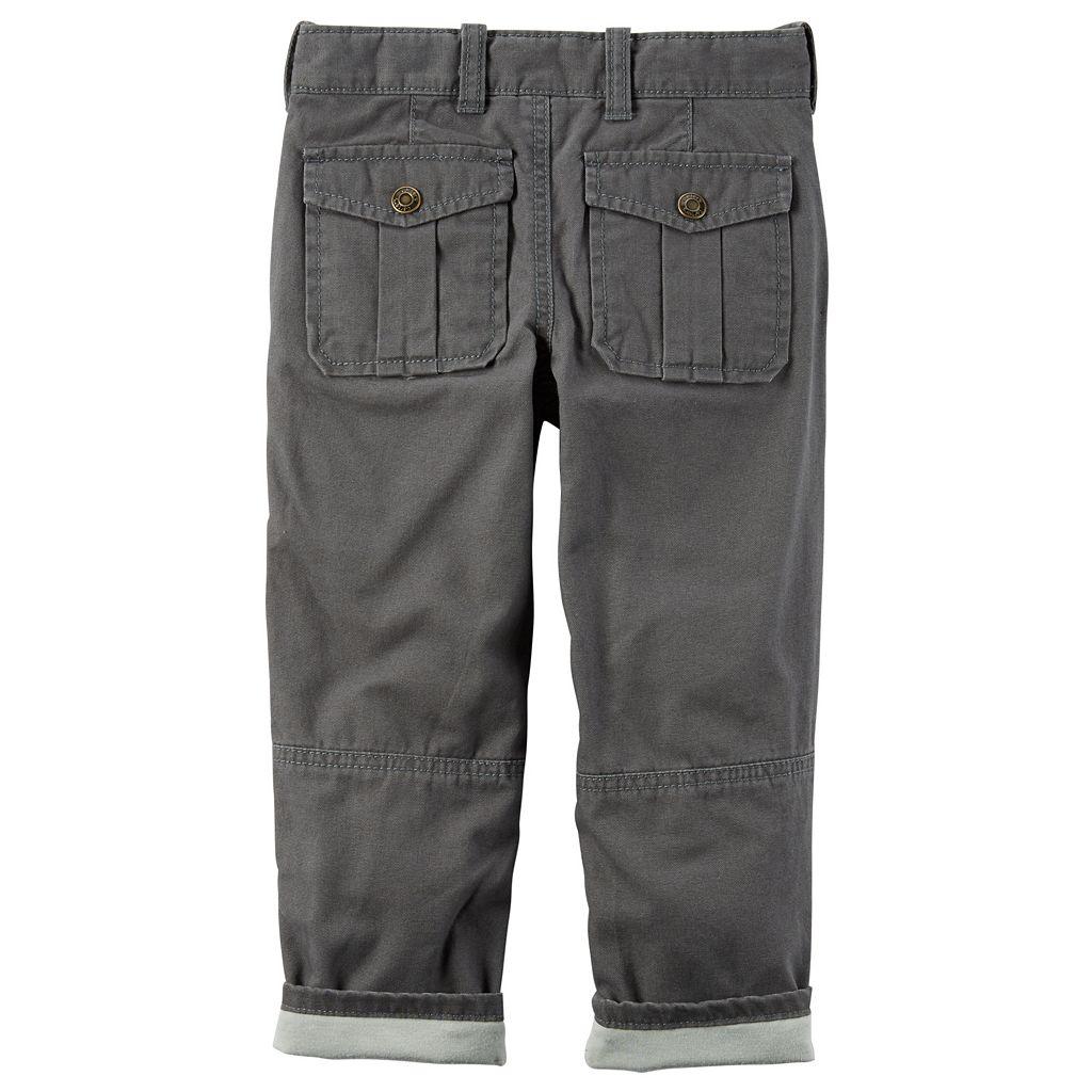 Baby Boy Carter's Lined Khaki Pants