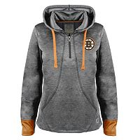 Women's Old Time Hockey Boston Bruins Annabelle Quarter-Zip Hoodie
