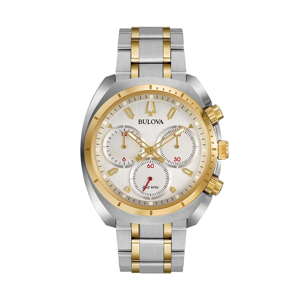 Bulova Men's CURV Two Tone Stainless Steel Chronograph Watch - 98A157