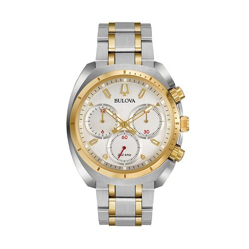 19318fc6a Bulova Men's CURV Two Tone Stainless Steel Chronograph Watch ...