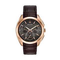 Bulova Men's CURV Leather Chronograph Watch - 97A124