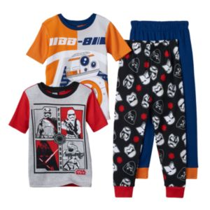 Boys 6-12 Star Wars BB-8 4-Piece Pajama Set