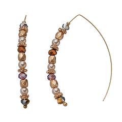 Simply Vera Vera Wang Beaded Threader Earrings
