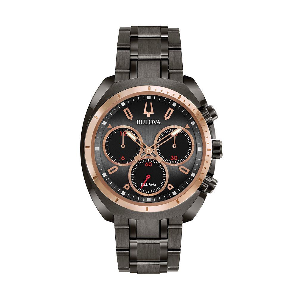 51b8849c4 Bulova Men's CURV Stainless Steel Chronograph Watch - 98A158