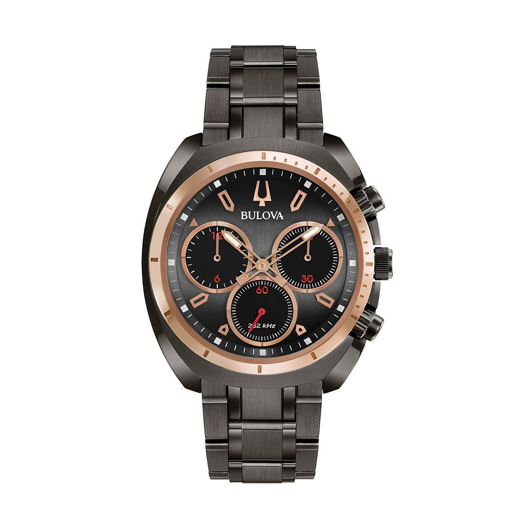 Bulova Men's CURV Stainless Steel Chronograph Watch - 98A158