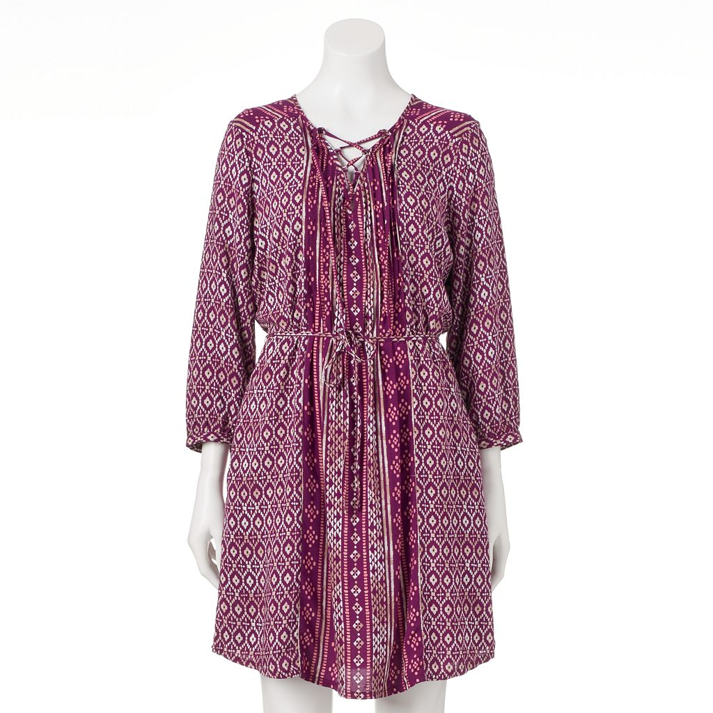 Women's SONOMA Goods for Life™ Lace-Up Peasant Dress