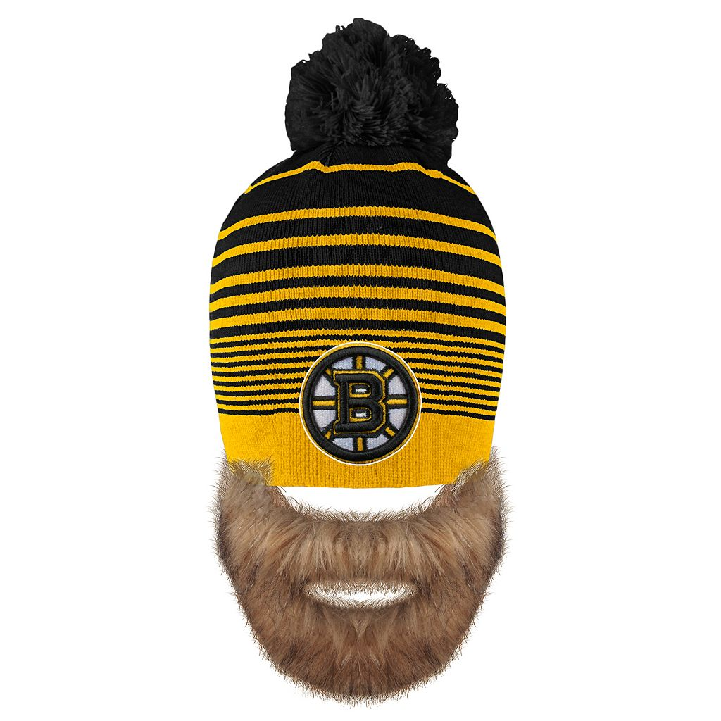 Adult Old Time Hockey Boston Bruins Bearded Beanie
