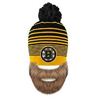 Adult Old Time Hockey Boston Bruins Bearded Beanie