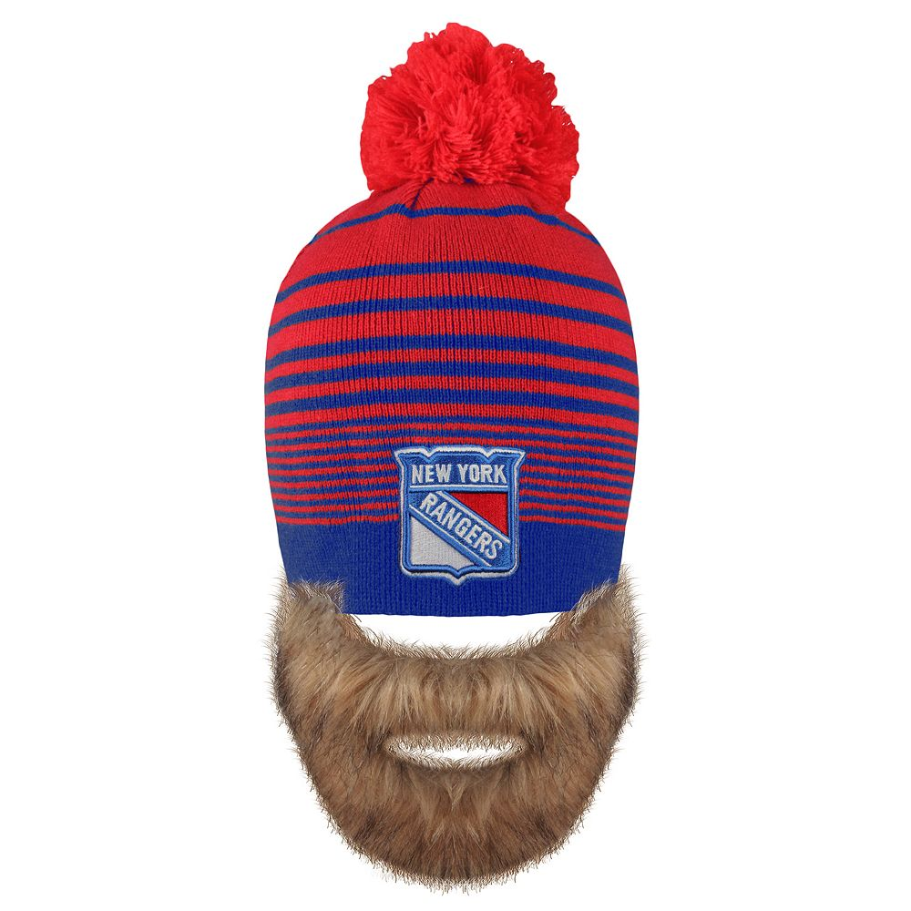 52e3810f9d3 ... germany adult old time hockey new york rangers bearded beanie a527d  2f7a2
