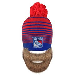 Adult Old Time Hockey New York Rangers Bearded Beanie