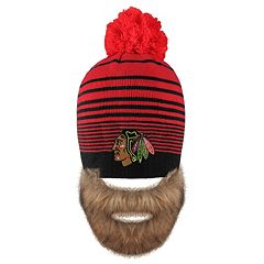 Adult Old Time Hockey Chicago Blackhawks Bearded Beanie