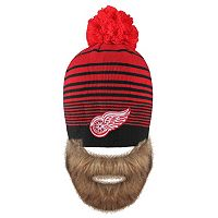 Adult Old Time Hockey Detroit Red Wings Bearded Beanie