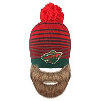 Adult Old Time Hockey Minnesota Wild Bearded Beanie