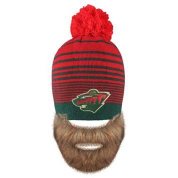 Adult Old Time Hockey Minnesota Wild Bearded Beanie