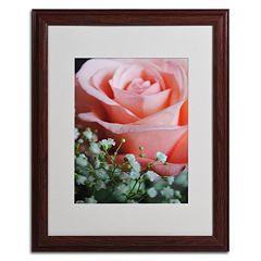 Trademark Fine Art 'Snug Blossom' Matted Wood Finish Framed Wall Art