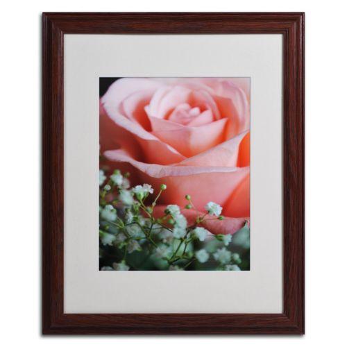 Trademark Fine Art Snug Blossom Matted Wood Finish Framed Wall Art