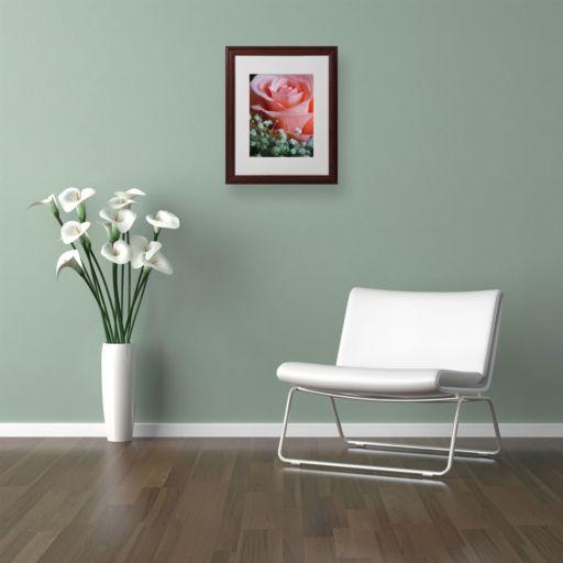 "Trademark Fine Art ""Snug Blossom"" Matted Wood Finish Framed Wall Art"