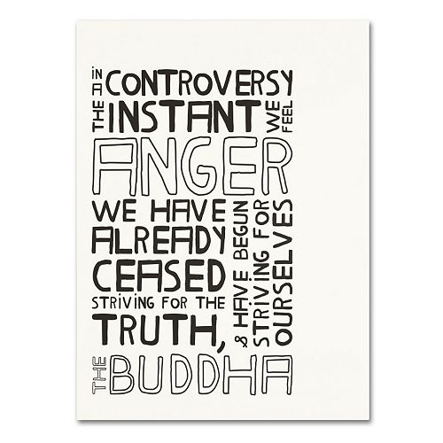 """Trademark Fine Art """"Anger in Controversy II"""" Canvas Wall Art"""