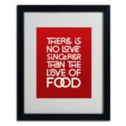 "Trademark Fine Art ""Sincere Love of Food II"" Matted Black Framed Wall Art"