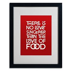 Trademark Fine Art 'Sincere Love of Food II' Matted Black Framed Wall Art