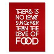 Trademark Fine Art 'Sincere Love of Food II' Canvas Wall Art