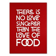 Trademark Fine Art 'Sincere Love of Food II' Canvas Wall Art