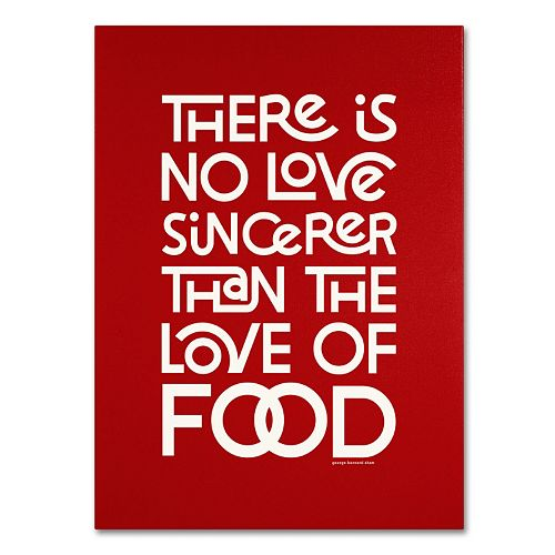 "Trademark Fine Art ""Sincere Love of Food II"" Canvas Wall Art"
