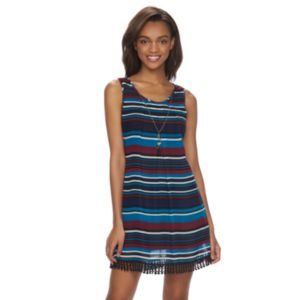 Juniors' Speechless Sleeveless Striped Dress