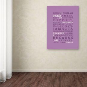 """Trademark Fine Art """"Strong Runner III"""" Canvas Wall Art"""