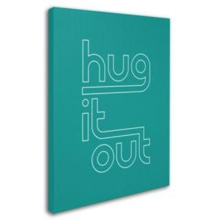 "Trademark Fine Art ""Hug It Out IV"" Canvas Wall Art"