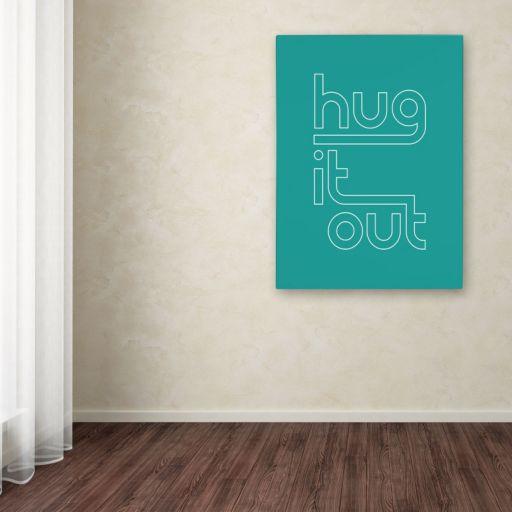 "Trademark Fine Art ""Hug It Out IV"" Canvas Wall Art"