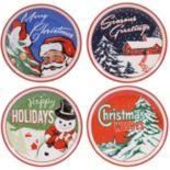 Certified International Retro Christmas 4-pc. Dinner Plate Set