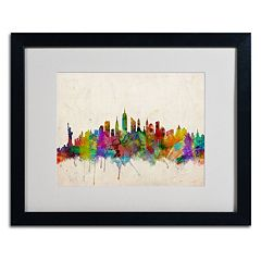 Trademark Fine Art 'New York Skyline' Black Framed Wall Art