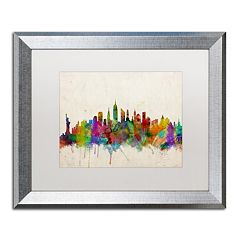 Trademark Fine Art 'New York Skyline' Silver Finish Framed Wall Art