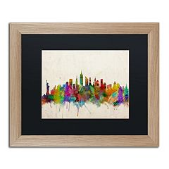 Trademark Fine Art 'New York Skyline' Framed Wall Art
