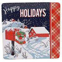 Certified International Retro Christmas Square Platter