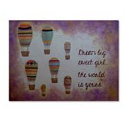 Trademark Fine Art 'Hot Air Balloons & A Sweet Girl' Canvas Wall Art