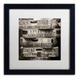 "Trademark Fine Art ""Covent Garden Market"" Black Framed Wall Art"