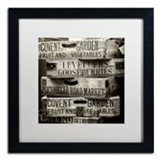 Trademark Fine Art 'Covent Garden Market' Black Framed Wall Art