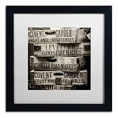 Trademark Fine Art 'Covent Garden Market' Black Framed Wall Art