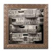 """Trademark Fine Art """"Covent Garden Market"""" Ornate Framed Wall Art"""