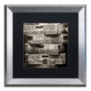 "Trademark Fine Art ""Covent Garden Market"" Silver Finish Framed Wall Art"