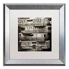 Trademark Fine Art 'Covent Garden Market' Silver Finish Framed Wall Art