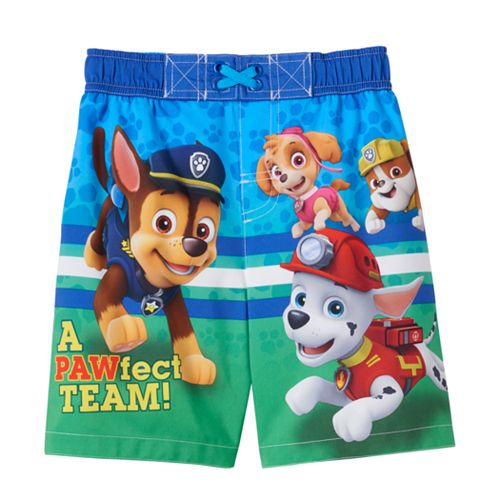 Paw Patrol Boys Pups at Play Swim Shorts Ages 18 Months to 5 Years