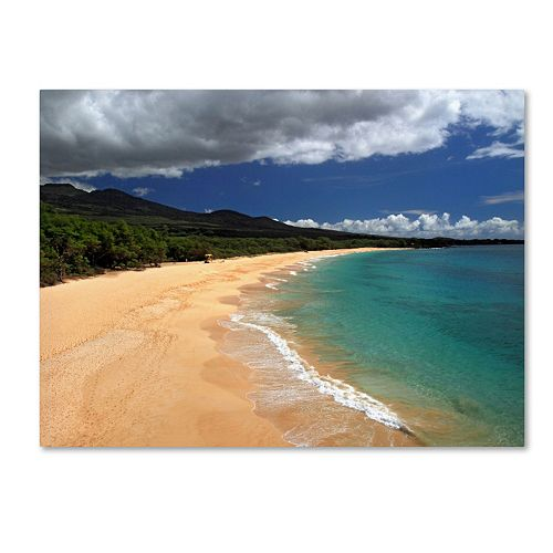 "Trademark Fine Art ""Makena Maui"" Canvas Wall Art"