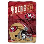 San Francisco 49ers Stagger Microfleece Oversized Throw by Northwest