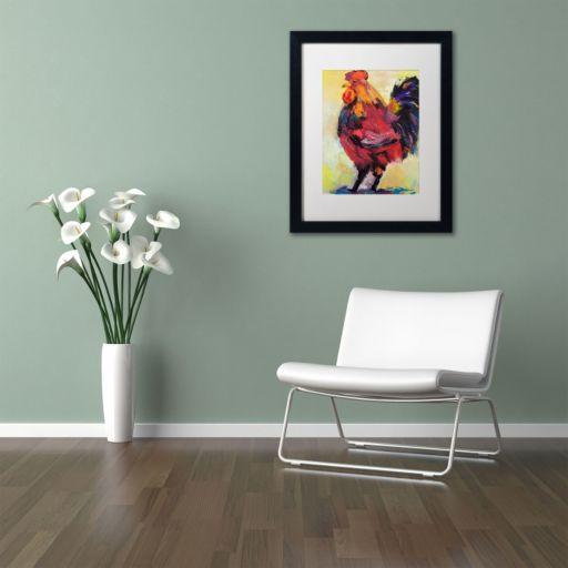 "Trademark Fine Art ""In Command"" Black Framed Wall Art"