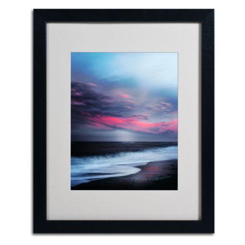 Trademark Fine Art Salt Water Sound Black Framed Wall Art
