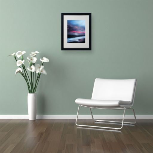 "Trademark Fine Art ""Salt Water Sound"" Black Framed Wall Art"