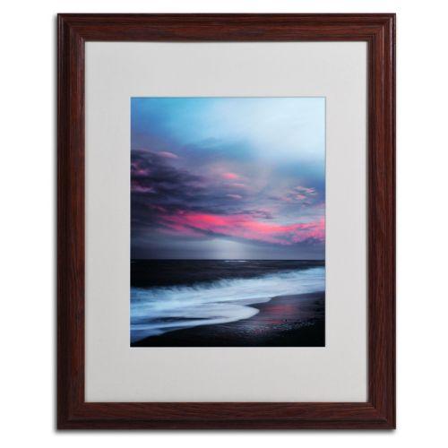 """Trademark Fine Art """"Salt Water Sound"""" Wood Finish Framed Wall Art"""